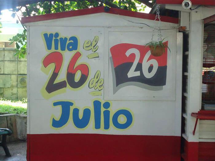 Il 26 luglio, giorno in cui ha avuto inizio la rivoluzione cubana